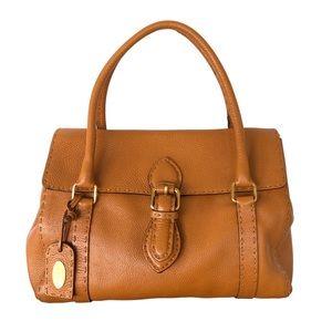 Fendi Tan Linda Selleria Leather Handbag